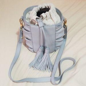 Milly nyc grey bucket bag